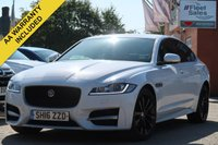 USED 2016 16 JAGUAR XF 2.0 D R-SPORT AWD 4d AUTO 177 BHP SATELLITE NAVIGATION + FULL LEATHER INTERIOR