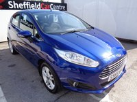 USED 2015 65 FORD FIESTA 1.0 ZETEC 5 door  99 BHP blue £174 A MONTH WITH NO DEPOSIT  AIR CON PARKING SENSORS ALLOY WHEELS FULL SERVICE HISTORY