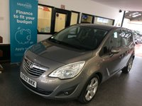 USED 2013 63 VAUXHALL MERIVA 1.4 TECH LINE 5d 99 BHP This petrol powered new shape Meriva is finished in pepperdust metallic with Black leather and cloth seats. It is fitted with power steering, Vauxhall Sat Nav & Bluetooth phone, climate controlled air con, cruise control, remote locking, electric windows and mirrors, alloy wheels, CD Stereo with UBS/Aux port and more. It has had two owners from new, the supplying dealer and one gentleman since January 2014 and comes with a full service history done 5 times at Vauxhall.