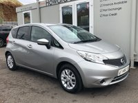 USED 2014 14 NISSAN NOTE 1.2 ACENTA PREMIUM 5d 80 BHP FINANCE ME TODAY!