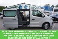 USED 2016 65 VAUXHALL VIVARO 2.9T 1.6 CDTI 120 ECOFLEX SWB SPORTIVE CREWCAB 6DR ( NO VAT !! ) 2016 YEAR SPORTIVE 6 SEATER , 30000 MILES & NO VAT
