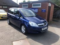USED 2009 59 VAUXHALL ZAFIRA 1.6 EXCLUSIV 5d 104 BHP ONE OWNER, ONLY 48K MILES, 7 SEATS SEATER, FULL HISTORY