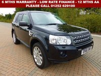 USED 2011 61 LAND ROVER FREELANDER 2.2 TD4 HSE 5d AUTO 150 BHP All retail cars sold are fully prepared and include - Oil & filter service, 6 months warranty, minimum 6 months Mot, 12 months AA breakdown cover, HPI vehicle check assuring you that your new vehicle will have no registered accident claims reported, or any outstanding finance, Government VOSA Mot mileage check.