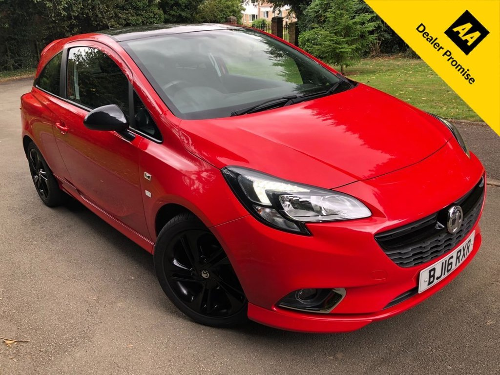 USED 2016 16 VAUXHALL CORSA 1.4 LIMITED EDITION ECOFLEX 3d 74 BHP 2 FORMER OWNERS,BLACK ALLOYS