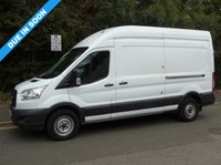 USED 2015 15 FORD TRANSIT T350 2.2TDCI 124 BHP LWB HIGH ROOF PANEL VAN +1 OWNER+ PLY LINED+