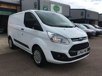 USED 2015 64 FORD TRANSIT CUSTOM 2.2 330 TREND L1 H1 153 BHP FSH, A/C, BLUETOOTH, P/SENSORS, FINANCE ARRANGED & 6 MONTHS WARRANTY. Full Service History, Service Print 4 Services (2 Ford Main Agent) - Last service - 11/01/2019 @ 87,838 Miles, A/C, front & rear Parking Sensors, rear parking camera, heated screen, cruise control, Bluetooth, electric power folding mirrors, E/W, DAB Radio, Drivers airbag, Factory fitted bulk head, colour coded,Steering Column Radio Control, Barn Rear Doors, finance arranged on site & 6 months premium Autoguard warranty