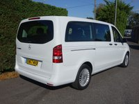 """USED 2017 67 MERCEDES-BENZ VITO TOURER SELECT LONG 8 SEATER MINIBUS 2.1 119 BLUETEC 190 BHP EURO 6 AUTOMATIC 21000 Miles And MB Warranty Till 12/20 Extras Inc Air Con, 190 Bhp Engine,7 Speed Auto Gearbox, 17"""" Alloy Wheels & Quick Release Rear Seats, First Class Example!"""