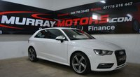 2016 AUDI A3 1.6 TDI ULTRA SE TECHNIK 3DOOR 109 BHP IBIS WHITE £10995.00