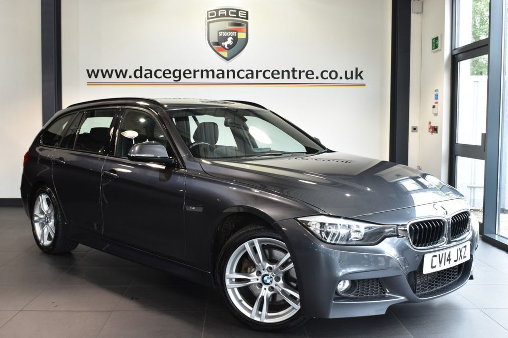 """USED 2014 14 BMW 3 SERIES 3.0 330D XDRIVE M SPORT TOURING 5DR AUTO 255 BHP full bmw service history Finished in a stunning mineral metallic grey styled with 18"""" alloys. Upon opening the drivers door you are presented with full leather interior, full bmw service history, pro satellite navigation, bluetooth, dab radio, cruise control, sport seats, light package, auto air con, rain sensors, fog lights, parking sensors"""
