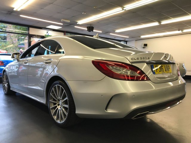 USED 2016 16 MERCEDES-BENZ CLS CLASS 3.0 CLS350 D AMG LINE PREMIUM PLUS 4d AUTO 255 BHP FULL MAIN DEALER SERVICE HISTORY, REAR CAMERA, ELECTRIC SUNROOF, STOP/START, MEMORY SEATS, HARMON KARDON SOUND SYSTEM