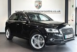 """USED 2015 15 AUDI Q5 2.0 TDI QUATTRO S LINE PLUS 5DR 148 BHP full service history Finished in a stunning  mithos styled with 20"""" alloys. Upon opening the drivers door you are presented with full black leather interior, full service history, satellite navigation, bluetooth, dab radio, cruise control. heated mirrors, climate control, parking sensors"""