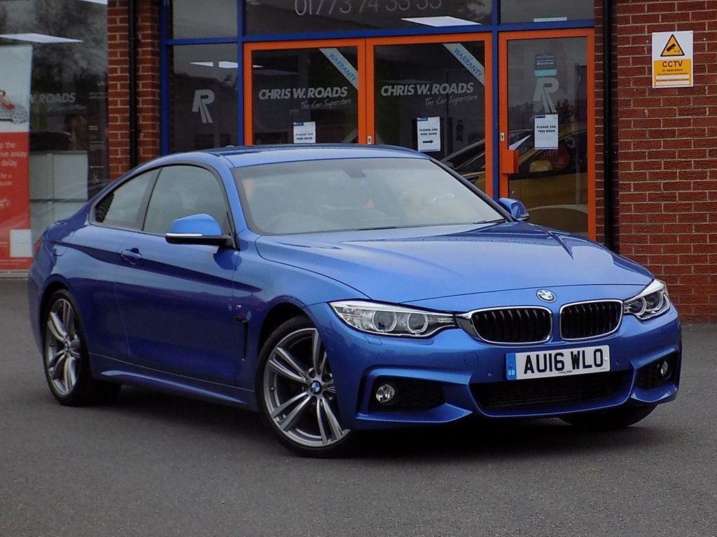 USED 2016 16 BMW 4 SERIES 2.0 420d M Sport 2dr (Professional Media) **Pro Nav + Heated Leather**
