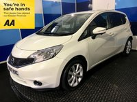 USED 2017 17 NISSAN NOTE 1.5 TEKNA DCI 5d 90 BHP A stuning example of this very highly regarded family 5 door diesel hatchback finished in unmarked white paintwork complemented with unblemished alloys.This car comes with satelite navigation,reverse camera plus all round vision,lane assist  & proximity warning,dab cd radio with usb/aux inputs,onboard computer,cruise control/speed limiter,digital climate control,bluetooth phone conectivity plus all the usual refinements. Road tax is free ,78.5 combined mpg,definitely one to consider,worth a view