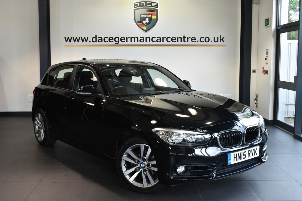 "USED 2015 15 BMW 1 SERIES 2.0 120D SPORT 5DR 188 BHP excellent service history Finished in a stunning black styled with 17"" alloys. Upon opening the drivers door you are presented with anthracite upholstery, excellent service history, bluetooth, dab radio, sport seats, rain sensors, fog lights"