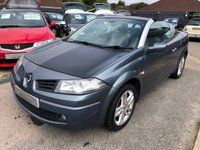USED 2007 57 RENAULT MEGANE 1.5 DYNAMIQUE S DCI EMSE06 2d 106 BHP GREAT PERFORMANCE AND ECONOMY DIESEL CONVERTIBLE SUPPLIED WITH A NEW MOT