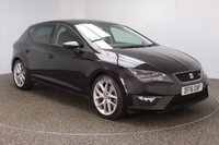 USED 2016 16 SEAT LEON 2.0 TDI FR TECHNOLOGY 5DR 1 OWNER 184 BHP FULL SERVICE HISTORY + £30 12 MONTHS ROAD TAX + HALF LEATHER SEATS + SATELLITE NAVIGATION + PARKING SENSOR + BLUETOOTH + CRUISE CONTROL + CLIMATE CONTROL + MULTI FUNCTION WHEEL + DAB RADIO + PRIVACY GLASS + XENON HEADLIGHTS + ELECTRIC WINDOWS + ELECTRIC MIRRORS + 18 INCH ALLOY WHEELS