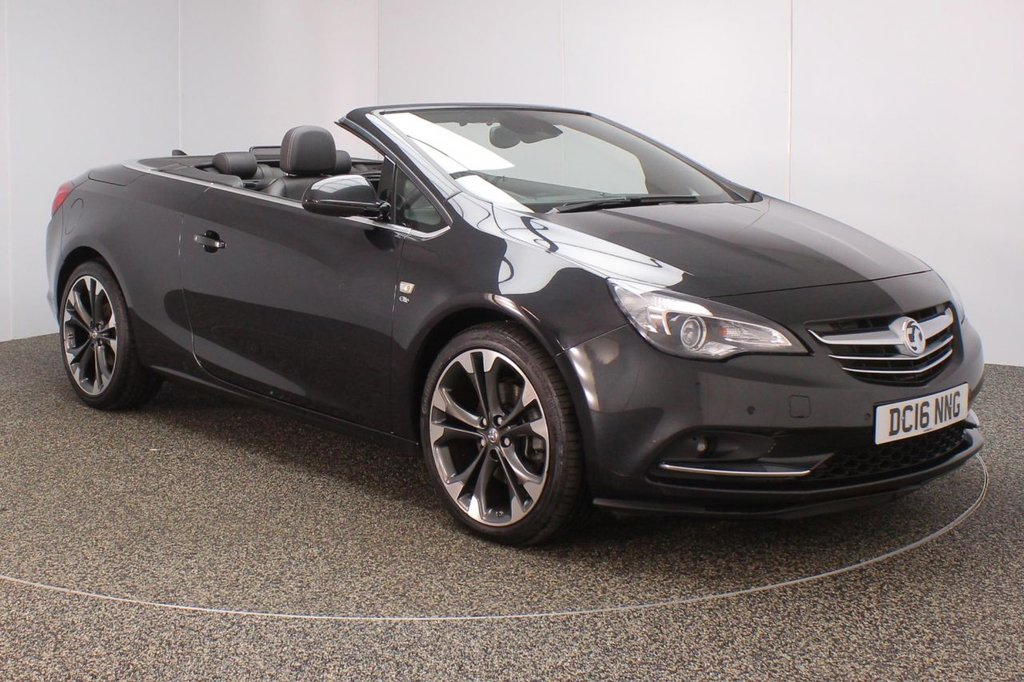 USED 2016 16 VAUXHALL CASCADA 1.6T ELITE 2DR AUTO HEATED LEATHER SEATS 1 OWNER 170 BHP FULL SERVICE HISTORY + HEATED LEATHER SEATS + PARKING SENSOR + BLUETOOTH + CRUISE CONTROL + CLIMATE CONTROL +MULTI FUNCTION WHEEL + DAB RADIO + ELECTRIC WINDOWS + ELECTRIC MIRRORS + 20 INCH ALLOY WHEELS