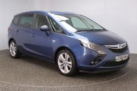 USED 2016 16 VAUXHALL ZAFIRA TOURER 1.6 SRI CDTI ECOFLEX S/S 5DR 7 SEATS FULL SERVICE HISTORY + £30 12 MONTHS ROAD TAX + 7 SEATS + PARKING SENSOR + BLUETOOTH + CRUISE CONTROL + MULTI FUNCTION WHEEL + AIR CONDITIONING + DAB RADIO + PRIVACY GLASS + ELECTRIC WINDOWS + ELECTRIC MIRRORS + 18 INCH ALLOY WHEELS
