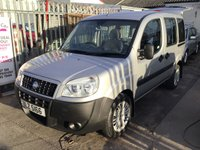 USED 2007 FIAT DOBLO 1.4 8V ACTIVE 5d 77 BHP Wheelchair adapted, winch and ramp, 56000 miles, superb.