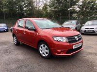 USED 2016 16 DACIA SANDERO 1.1 AMBIANCE 5d  ONE PRIVATE OWNER FROM NEW  NO DEPOSIT  PCP/HP FINANCE ARRANGED, APPLY HERE NOW