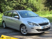USED 2016 16 PEUGEOT 308 1.6 BLUE HDI S/S SW ACTIVE 5d 120 BHP FULL SCREEN SAT NAV, ALLOYS