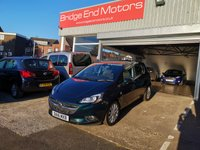 USED 2016 16 VAUXHALL CORSA 1.4 SE 5d AUTO 89 BHP ONLY 7775 MILES FROM NEW, LOW CO2, FULL DEALER SERVICE HISTORY, EXCELLENT SPEC INCLUDING AIR CON, PARKING SENSORS, HEATED FRONT SEATS AND STEERING WHEEL, HALF LEATHER TRIM, ALLOY WHEELS, REMOTE CENTRAL LOCKING AND AUX INPUT! MEETS ALL LARGE CITY EMISSION STANDARDS.