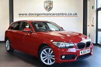 """USED 2016 65 BMW 1 SERIES 1.5 116D SPORT 5DR 114 BHP Finished in a stunning crimson red styled with 17"""" alloys. Upon opening the drivers door you are presented with anthracite upholstery, satellite navigation, bluetooth, dab radio, cruise control, sport seats, rain sensors, fog lights"""