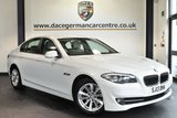 """USED 2013 13 BMW 5 SERIES 2.0 520D SE 4DR AUTO 181 BHP full service history Finished in a stunning alpine white styled with 17"""" alloys. Upon opening the drivers door you are presented with full oyster leather interior, full service history, bluetooth, heated seats, eco pro, parking sensors, auto stop/start"""