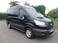 "USED 2018 18 FORD TRANSIT 290 L2 H2 MWB MEDIUM HIGHTOP 2.0 TDCI 130 BHP EURO 6 Popular MWB Trend Model With High Specification & Additional Air Con, 16""Alloys, Sat Nav, Rear Parking Camera & Metallic Paintwork Stunning Looking Van In Panther Black!"