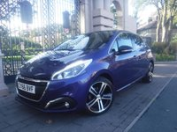 USED 2016 66 PEUGEOT 208 1.6 BLUE HDI GT LINE 5d 100 BHP *FINANCE ARRANGED*PART EXCHANGE WELCOME*1 OWNER*£0 TAX*PART LEATHER*AC*CAR PLAY & MIRROR LINK*CRUISE
