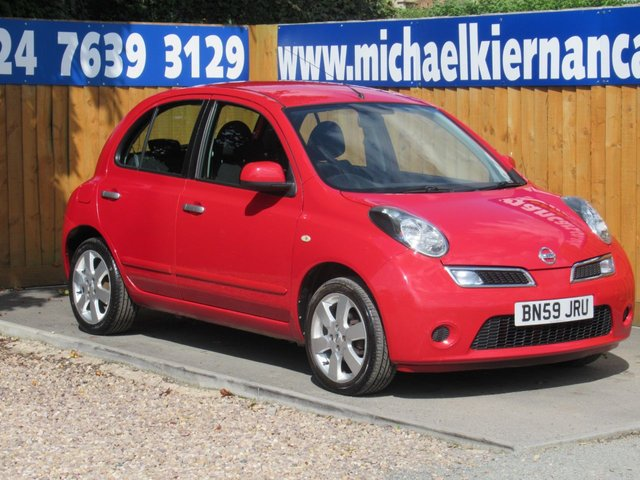 USED 2010 59 NISSAN MICRA 1.2 ACENTA 5d 80 BHP FSH X 8 STAMPS