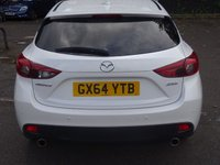 USED 2014 64 MAZDA 3 2.2 D SPORT NAV 5d 148 BHP NAVIGATION WITH HTD LTHR SEATS AND MEDIA BLUETOOTH