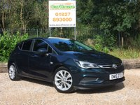 USED 2016 16 VAUXHALL ASTRA 1.4 DESIGN 5dr Cruise, Bluetooth, Isofix