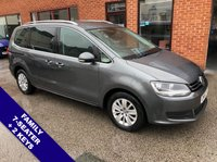 """USED 2016 16 VOLKSWAGEN SHARAN 2.0 SE TDI BLUEMOTION TECHNOLOGY DSG 5DOOR AUTO 148 BHP Family 7-Seater      :      DAB Radio      :      USB & AUX Sockets      :      Cruise Control      Bluetooth Connectivity     :     Climate Control / Air Con     :     Front & Rear Parking Sensors     16"""" Alloy Wheels"""