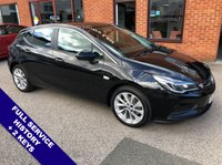 "USED 2016 66 VAUXHALL ASTRA 1.6 DESIGN CDTI S/S 5DOOR 134 BHP DAB Radio   :   USB Socket   :   Automatic Headlights   :   Cruise Control / Speed Limiter      Phone Bluetooth Connectivity   :   17"" Alloy Wheels   :   2 Keys   :   Full Service History"