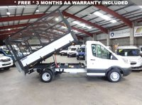 USED 2015 15 FORD TRANSIT 2.2 350 C/C DRW 125 BHP TWIN WHEEL CAGE TIPPER WITH TAIL LIFT '' YOU'RE IN SAFE HANDS  ''  WITH THE AA DEALER PROMISE