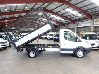 2015 FORD TRANSIT 2.2 350 C/C DRW 125 BHP TWIN WHEEL CAGE TIPPER WITH TAIL LIFT £12495.00