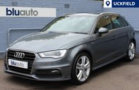 USED 2014 64 AUDI A3 2.0 TDI S LINE 5d 148 BHP 2 Owners, Full Audi History, Sat Nav, DAB Radio, Cruise Control, Voice Command, Dual Climate Control, Heated Mirrors, Bluetooth/USB Connectivity