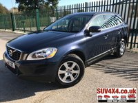 USED 2012 12 VOLVO XC60 2.4 D5 SE AWD 5d AUTO 212 BHP LEATHER STUNNING BLUE MET WITH BEIGE LEATHER TRIM. CRUISE CONTROL. 17 INCH ALLOYS. COLOUR CODED TRIMS. PARKING SENSORS. CLIMATE CONTROL INCLUDING AIR CON. BLUETOOTH PREP. TRIP COMPUTER. R/CD PLAYER. AUTO GEARBOX. MFSW. MOT 05/20. SERVICE HISTORY. PRESTIGE SUV CENTRE LS23 7FR. TEL 01937 849492 OPTION 1