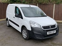 USED 2016 16 PEUGEOT PARTNER 1.6 BLUE HDI PROFESSIONAL L1 1d 100 BHP CENTRAL LOCKING, BLUETOOTH, SIDE LOADING DOOR