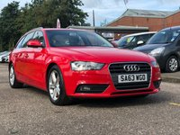 USED 2013 63 AUDI A4 2.0 AVANT TDI SE TECHNIK 5d 134 BHP NAVIGATION SYSTEM + FULL LEATHER + BLUETOOTH + 1 OWNER FROM NEW +  PARKING AID + FULL YEAR MOT +