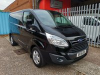 USED 2016 16 FORD TRANSIT CUSTOM 270 LIMITED L1 H1 SWB Low roof 125PS *AIR CON + ONLY 39k* ONE OWNER - LOW MILES - FORD S/HISTORY