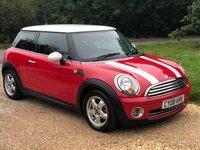USED 2008 08 MINI HATCH COOPER 1.6 COOPER 3d 118 BHP Alloy Wheels, Low Tax, A/C