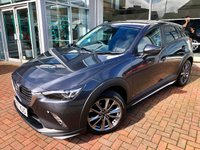 USED 2017 67 MAZDA CX-3 2.0 GT SPORT 5d AUTO 118 BHP Massive Specification GT - Auto! Complete with Navigation, Bluetooth Connectivity, Cruise Control, Heated Seats & Steering Wheel, BOSE audio equipment, Heads Up Display and so much More!!