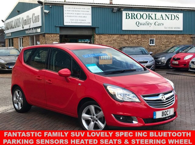 USED 2015 64 VAUXHALL MERIVA 1.4 TECH LINE 5d 99 BHP One Owner Car Full Dealer Service History  Fantastic Family SUV Lovely spec inc Bluetooth Parking Sensors DRL Cruise Control Air Con Heated Seats & Steering Wheel