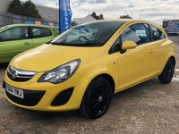 USED 2014 14 VAUXHALL CORSA 1.2 DESIGN AC 3d 83 BHP Great Colour + New MOT Upon Sale