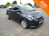 USED 2016 16 PEUGEOT 108 1.0 ACTIVE 5d 68 BHP Free To Tax! Cheap To Run! Bluetooth, Touchscreen radio, DAB