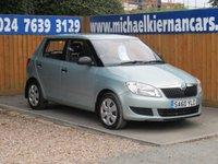 2010 SKODA FABIA 1.6 S TDI CR 5d 89 BHP £2895.00
