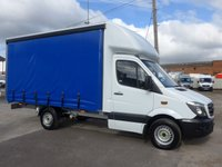 USED 2014 64 MERCEDES-BENZ SPRINTER 313 CDI MWB AUTOMATIC CURTAIN SIDER, 130 BHP [EURO 5]