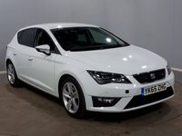 USED 2015 65 SEAT LEON 2.0 TDI FR TECHNOLOGY 5d 184 BHP FULL SERVICE HISTROY + 1 OWNER + SAT-NAV + LEATHER + PARKING SENSORS